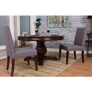 Somette Slate Linen Dining Chair (Set of 2)