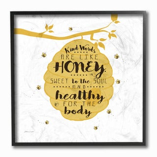 'Kind Words are Like Honey' Framed Giclee Texturized Art