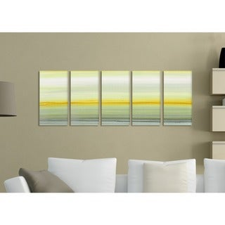 Amber Horizons' Painted Landscape 5-piece Stretched Canvas Wall Art Set