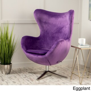 Christopher Knight Home Gordon Velvet Mid-Century Swivel Chair