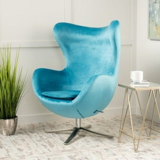Gordon Velvet Swivel Chair by Christopher Knight Home