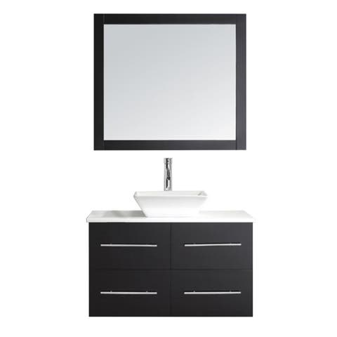 Marsala 35-in Stone Top Single Bathroom Vanity Set