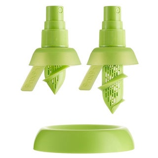 Kitchen Keepers Green Plastic and Silicone Smart Citrus Spritzer
