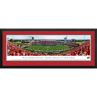 Western Kentucky Football '50 Yd Line' Blakeway Panoramas Framed Print