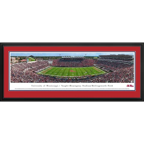 Ole Miss Football - Blakeway Panoramas Framed Print