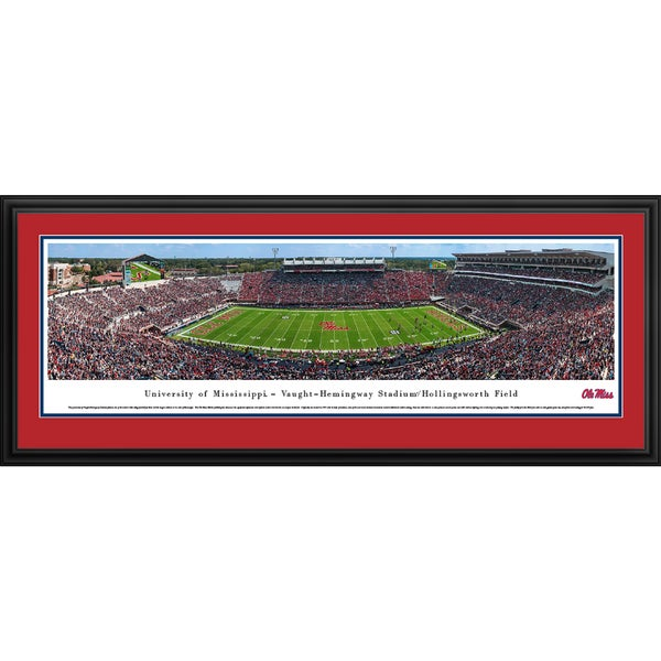 Ole Miss Football '50 Yd Line' Blakeway Panoramas Framed Print