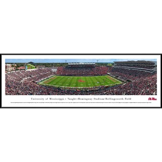 Ole Miss Football '50 Yd Line' Blakeway Panoramas Framed Print (3 options available)