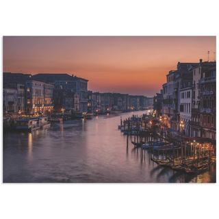 Karen Deakin 'Venice Grand Canal' Venice Landscape Art on Metal or Acrylic