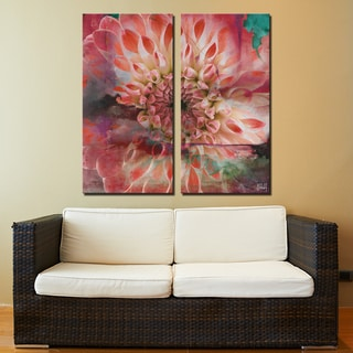 Ready2HangArt 2 Piece 'Painted Petals XXIX' Canvas Art Set
