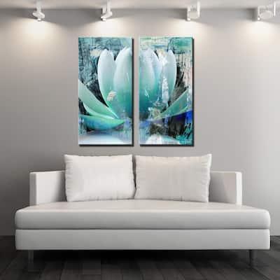 Ready2HangArt 'Painted Petals XXIV' 2-Piece Canvas Wall Art Set