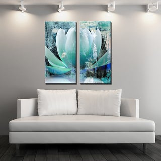 Link to Ready2HangArt 'Painted Petals XXIV' 2-Piece Canvas Wall Art Set Similar Items in Canvas Art