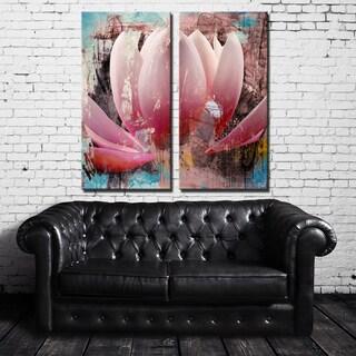 Ready2HangArt 2 Piece 'Painted Petals XXIII' Canvas Art Set