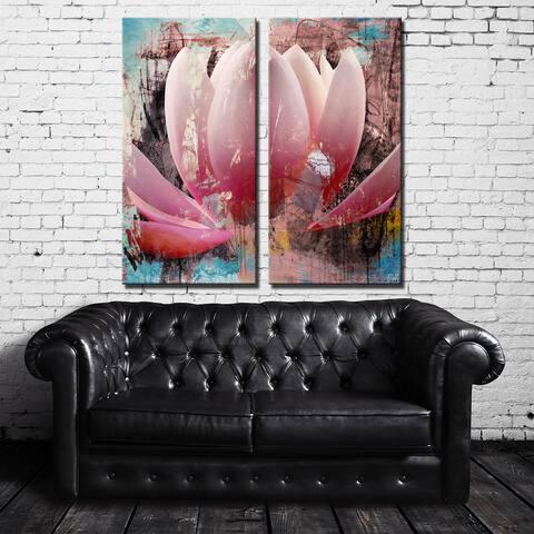 Ready2HangArt 'Painted Petals XXIII' 2-Piece Canvas Wall Art Set