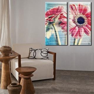 Ready2HangArt 2 Piece 'Painted Petals XXI' Canvas Art Set