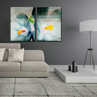 Ready2HangArt 2 Piece 'Painted Petals XX' Canvas Art Set