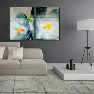 Ready2HangArt 2 Piece 'Painted Petals XX' Canvas Art Set