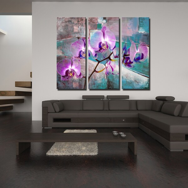 Ready2HangArt 3 Piece 'Painted Petals XIX' Canvas Art Set