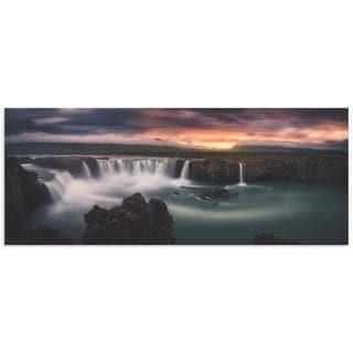 Stefan Mitterwallner 'Fire and Waterfalls' Waterfall Image on Metal or Acrylic