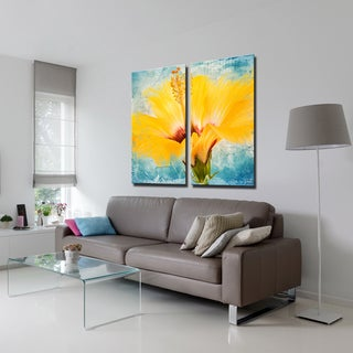Ready2HangArt 2 Piece 'Painted Petals XVII' Canvas Art Set