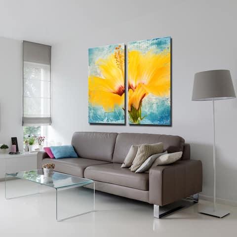 Ready2HangArt 'Painted Petals XVII' 2-Piece Canvas Wall Art Set