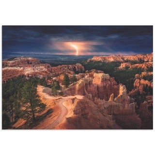 Stefan Mitterwallner 'Lightning Over Bryce Canyon' Storm Pictures on Metal or Acrylic