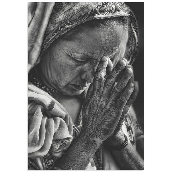 Piet Flour 'Prayers' Hindu Prayer Art on Metal or Acrylic