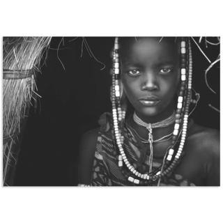 Hesham Alhumaid 'Mursi Girl' African Fashion Art on Metal or Acrylic
