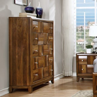 Calais Walnut Solid Wood 5-drawer Chest