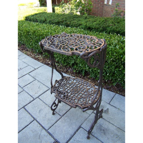 Oakland Living Corporation Entwine Bronze Iron 2-Level Plant Stand