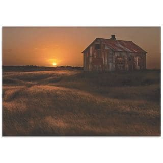 Bragi Ingibergsson 'September Barn' Rustic Decor on Metal or Acrylic