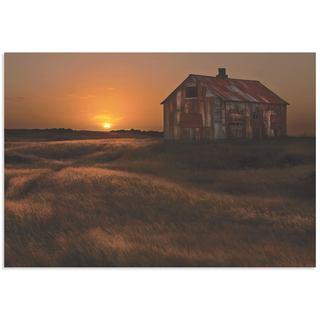 Bragi Ingibergsson 'September Barn' Rustic Decor on Metal or Acrylic