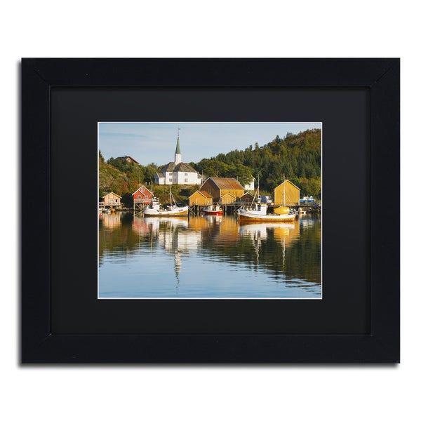 Michael Blanchette Photography 'Harbor at Rest' Matted Framed Art