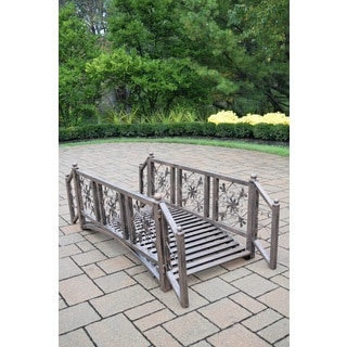 Oakland Living Corporation London Antique Bronze Iron Garden Bridge