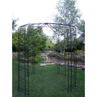 London Garden Brown Iron/Metal Gazebo