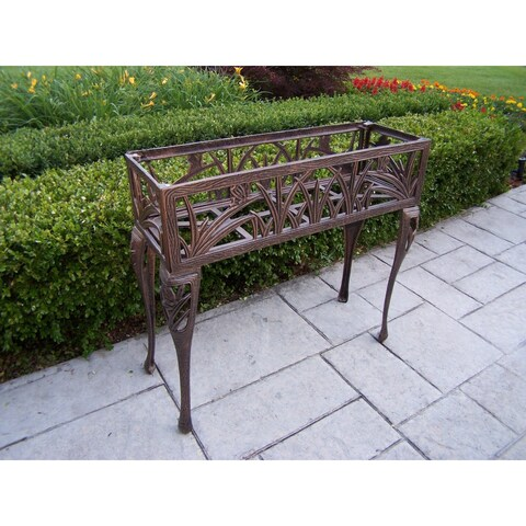 Oakland Living Monarch Bronze Metal Rectangular Plant Stand
