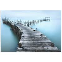 Jes�s M. Garc�a 'Old Aqua Dock' Coastal Art on Metal or Acrylic