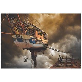 Radoslav Penchev 'Nymph Ship' Digital Graphic Art on Metal or Acrylic