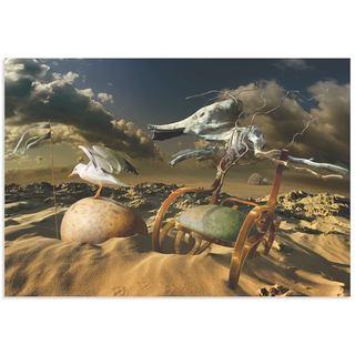 Radoslav Penchev 'Desert Life' Surreal Landscape Art on Metal or Acrylic