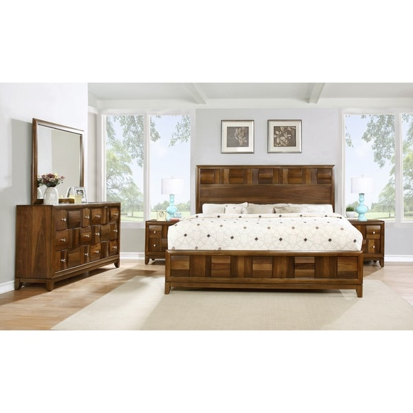 Calais Solid Wood Construction Bedroom Set with Bed