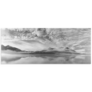 Marloes van Pareren 'Morning Mist' Black and White Photography on Metal or Acrylic