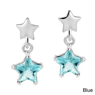 Handmade Little Twinkle Star Cubic Zirconia Sterling Silver Earrings (Thailand)