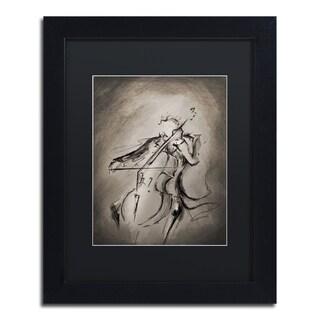 Marc Allante 'The Cellist' Matted Framed Art