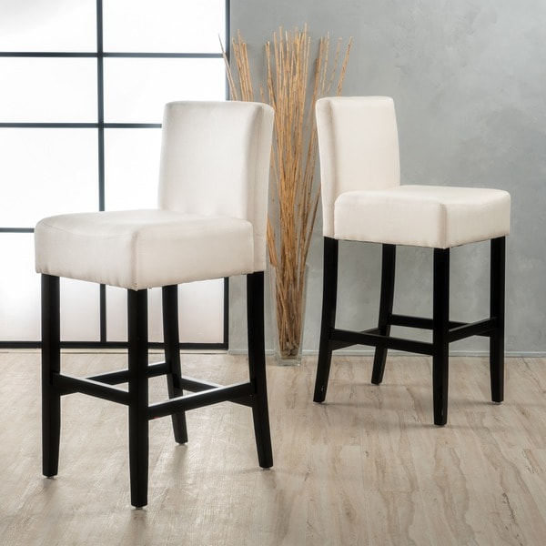 Lopez 30 Inch Fabric Barstool Set Of 2 By Christopher