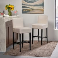 Lopez 30-inch Fabric Barstool (Set of 2) by Christopher Knight Home