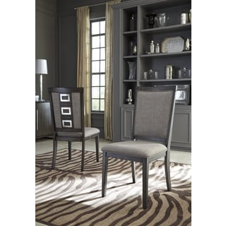 Signature Design by Ashley Chadoni Gray Dining Chairs (Set of Two)