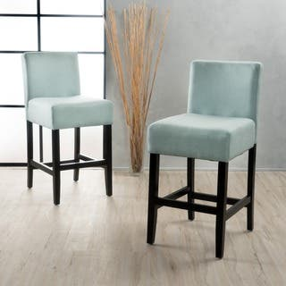 Lopez 26 Inch Fabric Counter Stool Set Of 2 By Christopher Knight Home