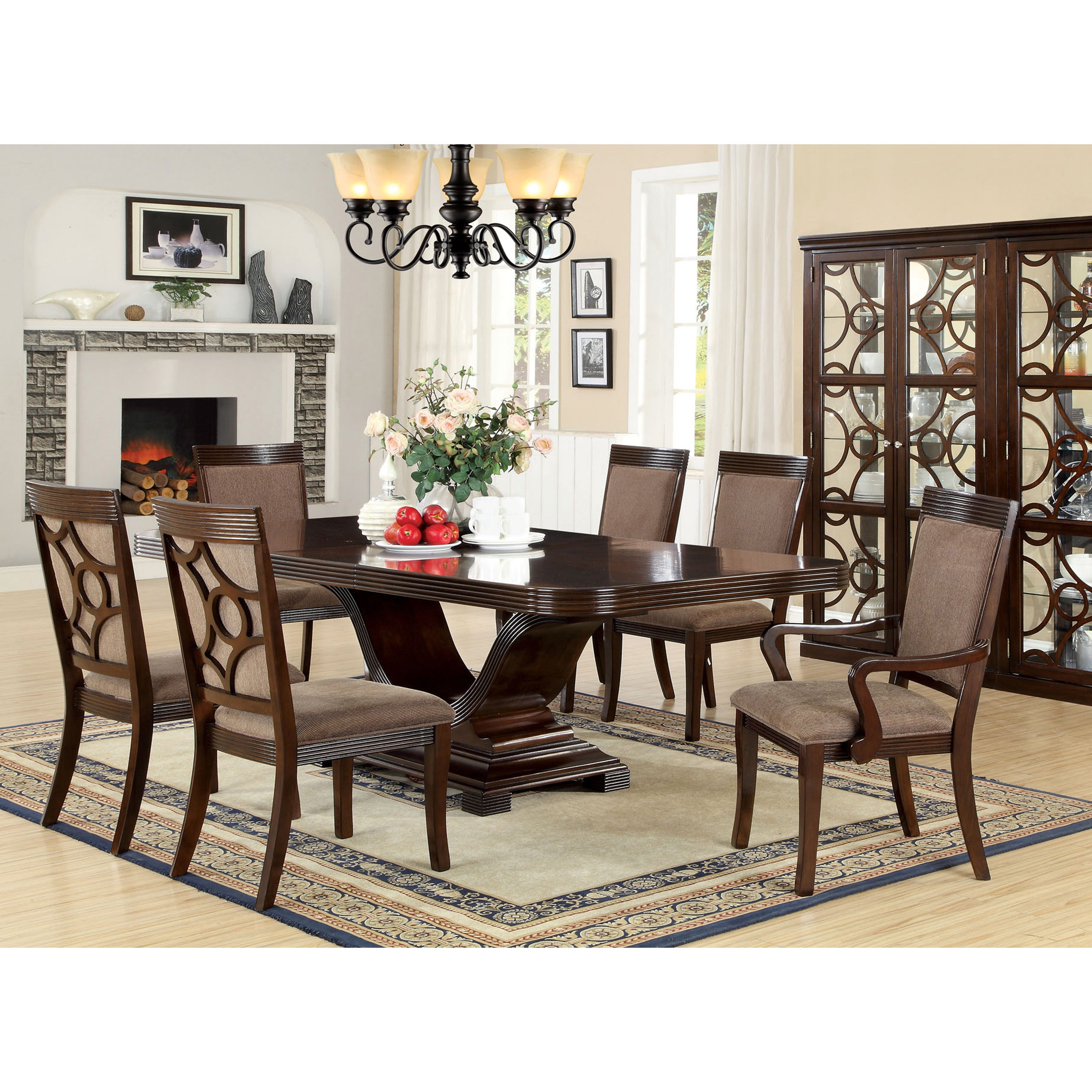 Sensational Woodburly Contemporary Walnut Dining Table With 20 Inch Leaf By Foa Cjindustries Chair Design For Home Cjindustriesco