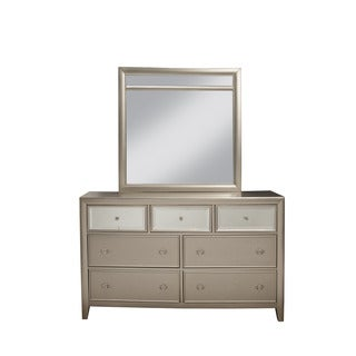 Alpine Silver Dreams Wood-framed Mirror