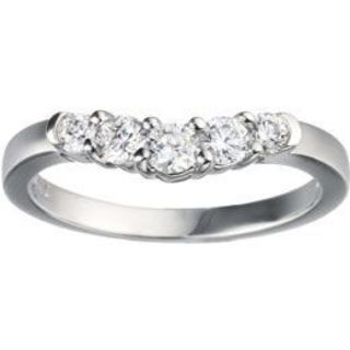 TwoBirch 14k White Gold 1/5ct TDW Diamond Contoured Wedding Ring (G-H, I1-I2)
