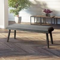 Furniture of America Bradensbrook Grey Upholstered Mid-century Dining Bench